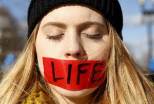 pro-life silenced