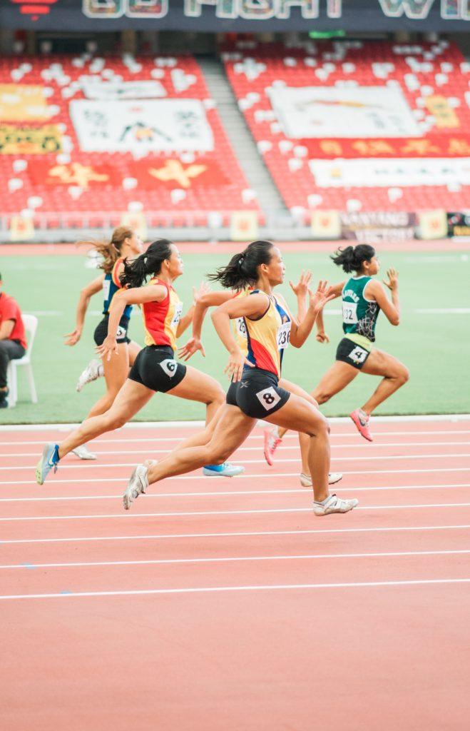women track athletes